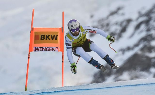 Martin Čater je v Wengnu vedno dobro tekmoval, tudi danes, ko je bil šesti na kombinaciji. FOTO: AFP