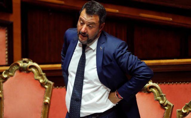 Matteo Salvini je z referendumom poskušal izsiliti spremembo volilnega sistema, na podlagi katerega bi lahko Liga še dodatno okrepila svoj položaj. Foto: Reuters