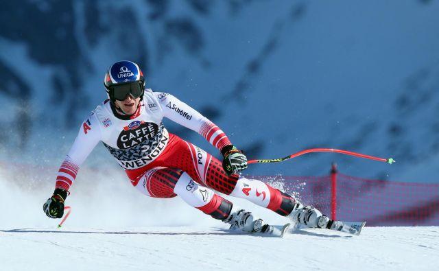 Matthias Mayer je zmagovito odpeljal alpsko kombinacijo v Wengnu. FOTO: Reuters