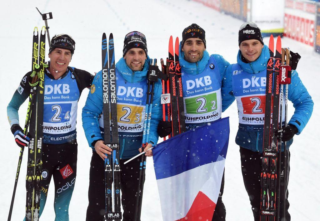 Biatlonska štafeta Francozom, Slovenci sedmi