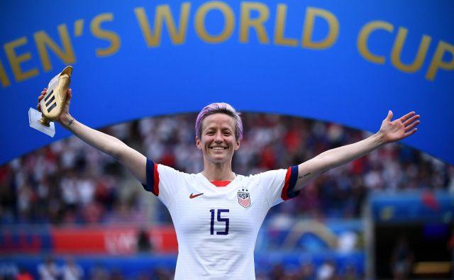 Megan Rapinoe je Fifa lani razglasila za najboljšo nogometašico na svetu Foto Franck Fife/AFP