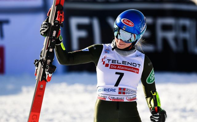 Mikaela Shiffrin je postavila najhitrejši čas kvalifikacij. FOTO: Miguel Medina/AFP