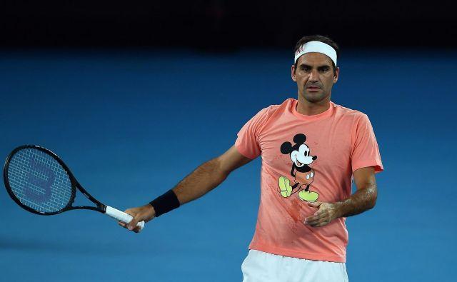 Roger Federer nima največjih pričakovanj za OP Avstralije.<br /> FOTO: AFP