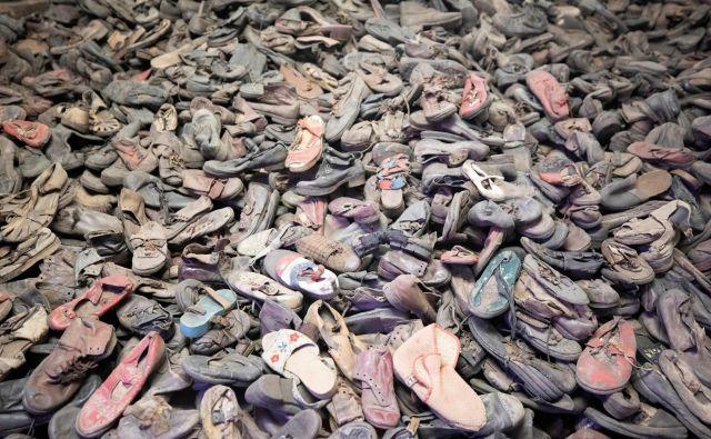 Ko so enote sovjetske Rdeče armade prišle do koncentracijskega taborišča Auschwitz, so našle 40.000 parov čevljev. Foto Axel Schmidt Reuters