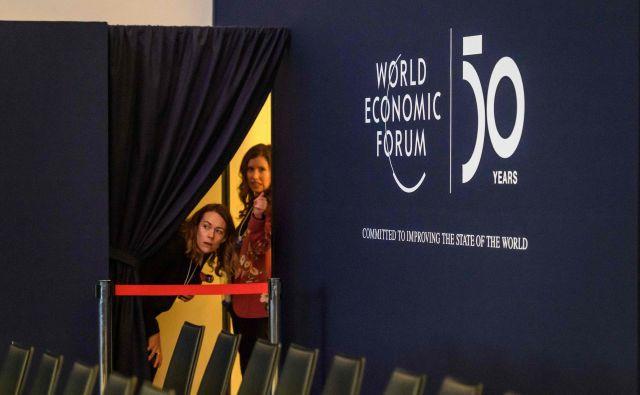 V Davos bo pripotovalo najmanj 119 milijarderjev z vsega sveta. FOTO: AFP
