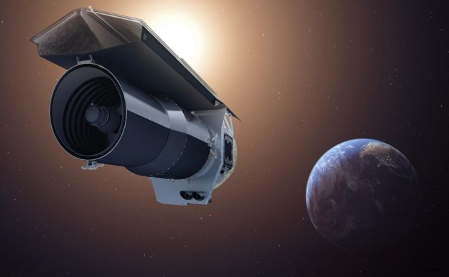 Umetniška upodobitev Spitzerjevega teleskopa. FOTO: Nasa
