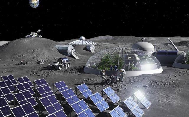 Iz kamnin drugih nebesnih teles bomo lahko poleg kisika pridobivali tudi gradbeni material. Foto Esa