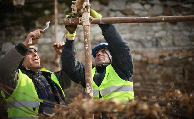 Leto 2020 bo za gradbena podjetja zelo negotovo. FOTO: Jure Eržen/Delo