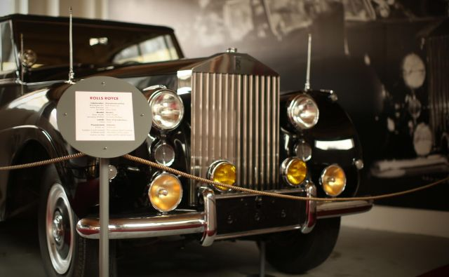 Rolls-Royce v Tehniškem muzeju Slovenije v Bistri<br /> Foto Jure Eržen