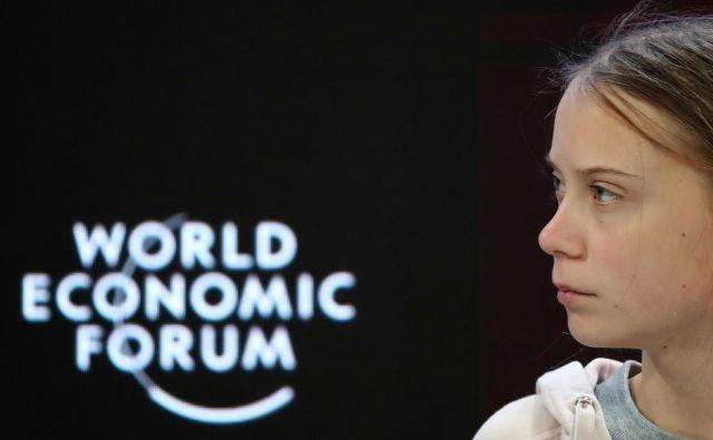 Trumpovi definiciji prerokov pogube ustreza kar nekaj udeležencev foruma, tudi 17-letna Greta Thunberg. Foto Reuters