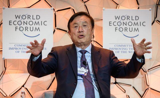 Glavni izvršni direktor Huaweia Ren Zhengfei. FOTO: AFP