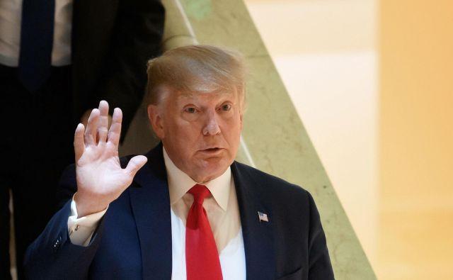 Usoda ameriškeškega predsednika Donalda Trumpa, na fotografiji v Davosu, se odloča v ameriškem senatu. Foto Fabrice Coffrini Afp