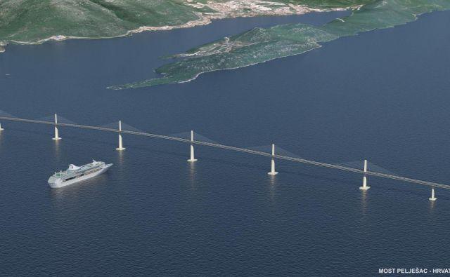 Vrednost mostu je 280 milijonov evrov, celotnega projekta uz navezovalnimi cestami pa okoli 400 milijonov evrov. Foto Arhiv Ponting