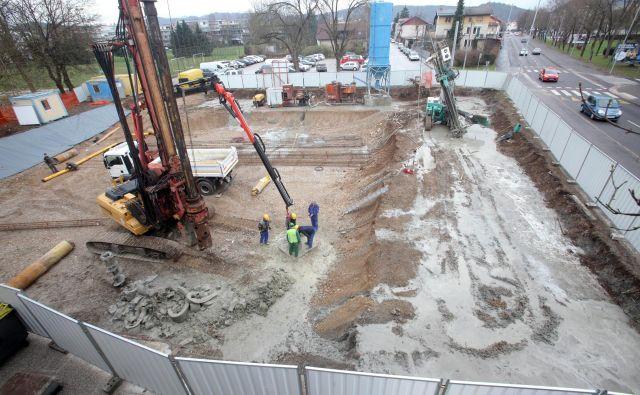 Ob Vodnikovi cesti bo Avto Krka v letu in pol zgradila 23 stanovanj in dve športni dvorani. FOTO: Mavric Pivk