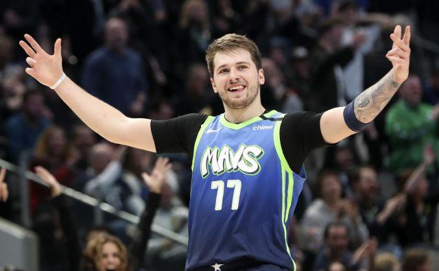 Luka Dončić se je z vrtoglavo naglico povzpel med največje zvezdnike lige NBA. FOTO: USA Today Sports