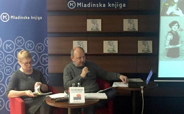 Tatjana Cestnik in Andrej Ilc in sta razgrnila obetavno napoved prihajajoče knjižne sezone Mladinske knjige. Foto Andrej Predin