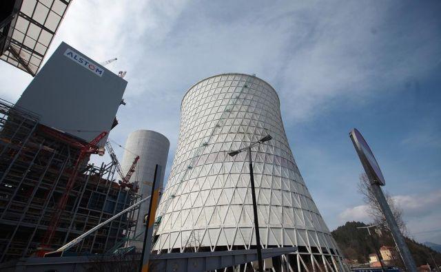 Gradnja šestega bloka Termoelektrarne Šoštanj 11.4.2013 Šoštanj Slovenija Foto Jože Suhadolnik