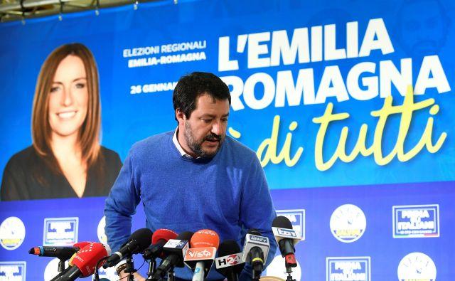 Desničarski Ligi Mattea Salvinija ni uspelo prevzeti oblasti v Emiliji - Romanji. FOTO: Flavio Lo Scalzo/Reuters
