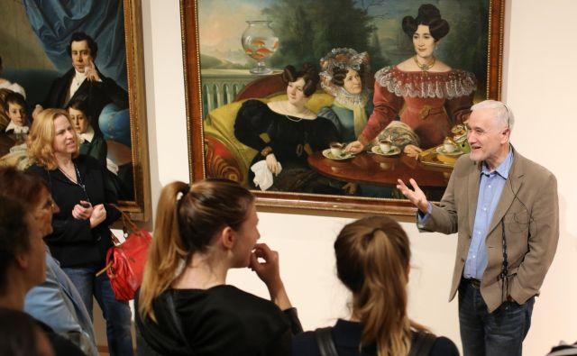 S predavanjem prof. dr. Zvezdana Pirtoška se začenja sodelovanje med Narodno galerijo in združenjem Spominčica. Foto Tomi Lombar