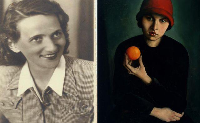 Takrat trinajstletna Nada Nerat je bila leta 1927 model za sliko Deklica z oranžo Ivana Kosa Foto Ugm