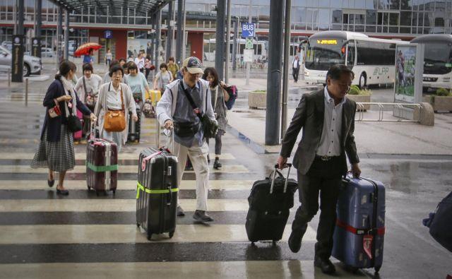 Oboleli Avstrijec se je zadrževal na ljubljanskem letališču. FOTO: Jože Suhadolnik/Delo