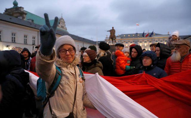 Reforme sodne oblasti so izzvale množične proteste. FOTO: Reuters
