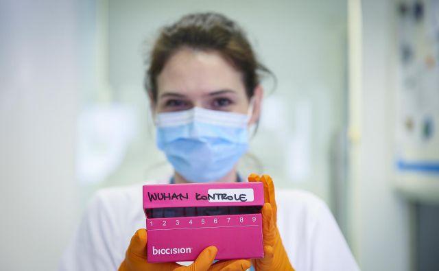 Molekularna diagnostika novega koronavirusa poteka na več virusnih genih. Za kontrolo izvedbe testa potrebujemo tudi preverjene pozitivne kontrole. FOTO: Jože Suhadolnik/Delo