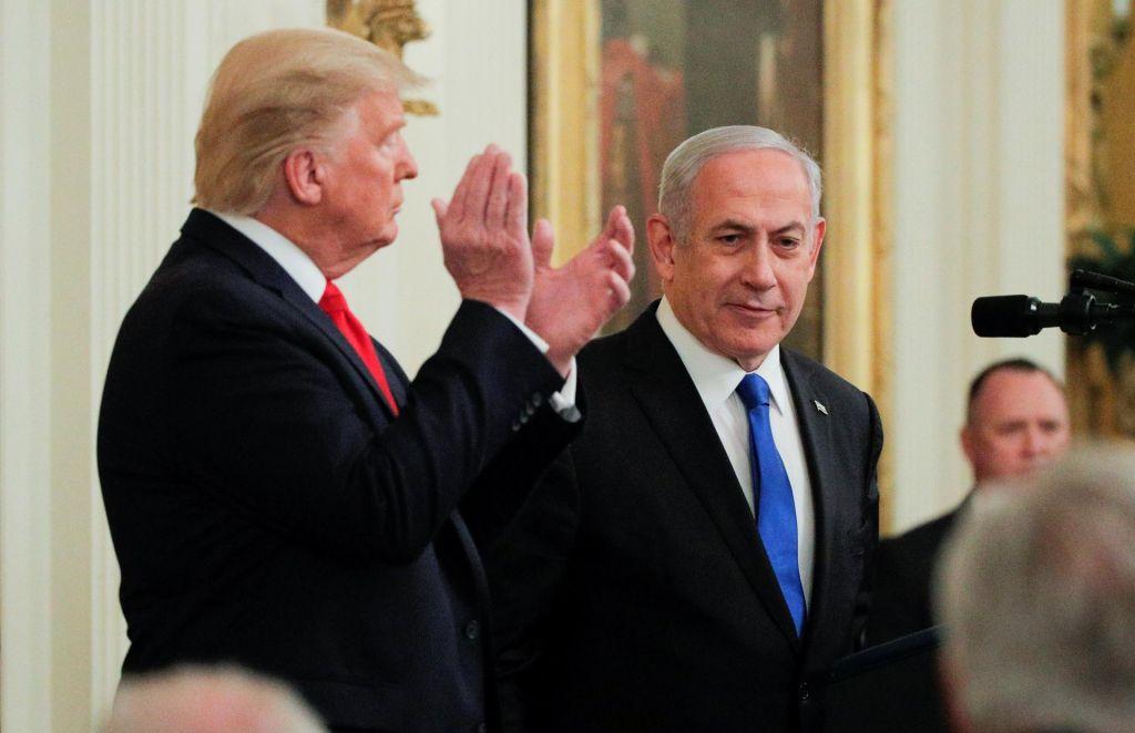 FOTO:Trumpova »vizija« za mir med Izraelom in Palestinci