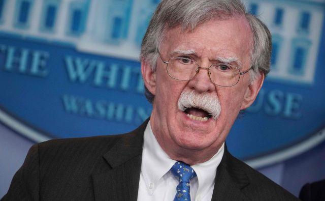 Nekdanji predsednikov svetovalec za nacionalno varnost John Bolton. FOTO: Mandel Ngan/AFP