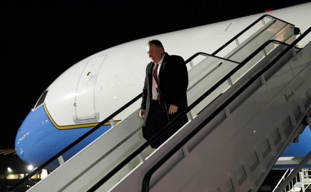 Po Ukrajini bo ameriški državni sekretar Mike Pompeo obiskal še Belorusijo, Kazahstan in Uzbekistan, že prej pa se je ustavil v Londonu. Foto AFP