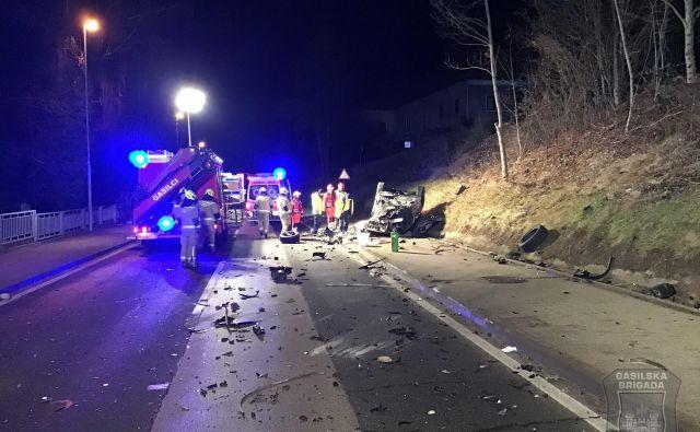 Tragična prometna nesreča v Bresternici. FOTO: Gasilska brigada Maribor