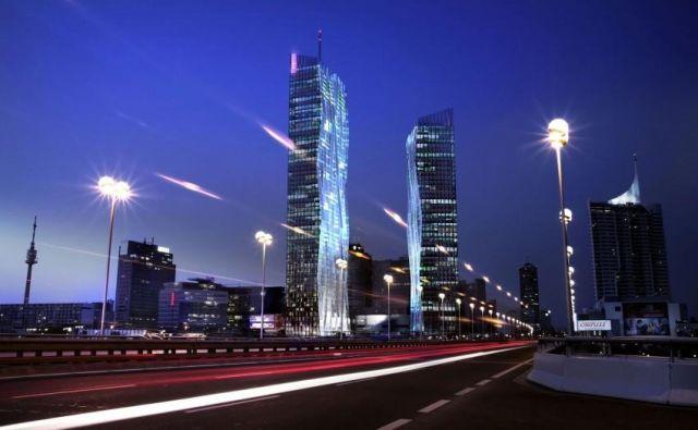 Stolpnica DC 1, ki jo je zasnoval arhitekt Dominique Perrault, je z 250 metri višine najvišji tovrstni objekt v Avstriji. FOTO: Michael Nagl, Dominique Perrault Architecte-adagp