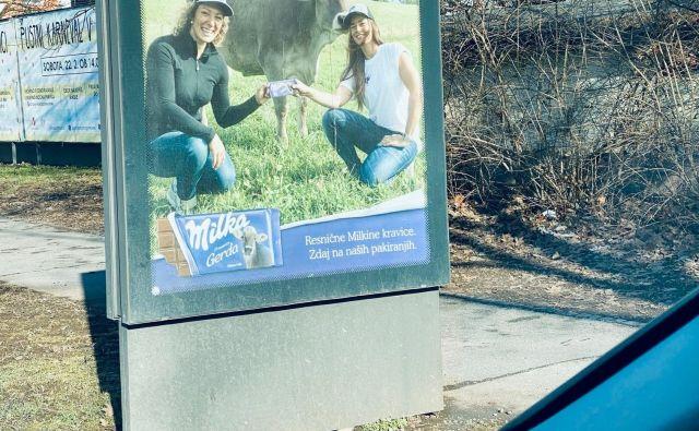 Na kaj namiguje jumbo plakat za priljubljeno čokolado?<br /> Fotodokumentacija Dela