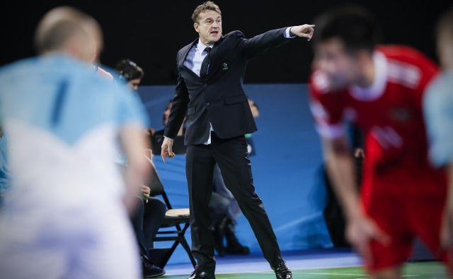Selektor reprezentance v dvoranskem nogometu Andrej Dobovičnik je prepričan, da je Slovenija dovolj kakovostna za eno od prvih mest na kvalifikacijskem turnirju za SP v Brnu. FOTO: Uroš Hočevar/Delo