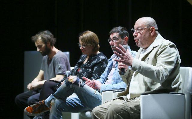Program so predstavili (z leve proti desni) Gregor Luštek, Ivana Djilas, Matjaž Pograjc in Matjaž Berger. Foto Jože Suhadolnik