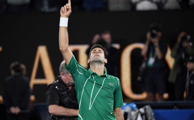 Novak Đoković se ne more naveličati zmag v Avstraliji, kjer je slavil v letih 2008, 2011, 2012, 2013, 2015, 2016, 2019 in 2020. Foto AFP