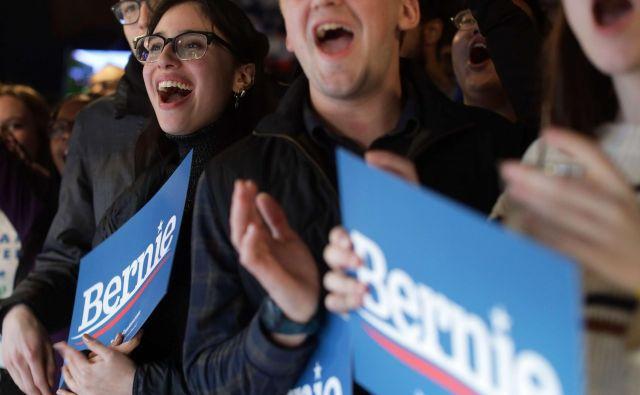 Vermontski senator Bernie Sanders ima tudi v Des Moinesu veliko privržencev. Foto AFP