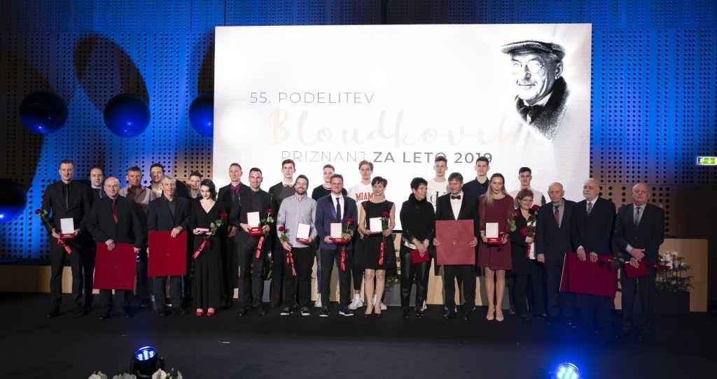 FOTO:Primož Roglič in Eva Terčelj Bloudkova nagrajenca za leto 2019