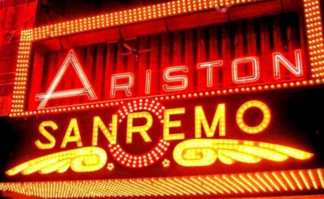 Sanremsko gledališče Ariston je dom festivala, ki je sinonim za italijansko popevko.<br /> Foto Reuters