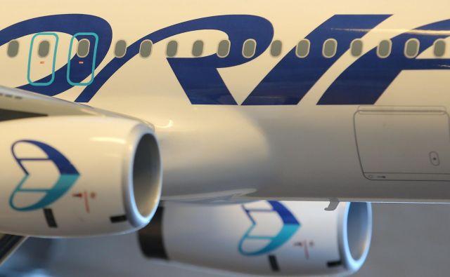 Stečajni upravitelj bo v prihodnje prodajal tudi blagovno znamko Adria Airways, ki je ocenjena na 100.000 evrov. FOTO: Tomi Lombar/Delo