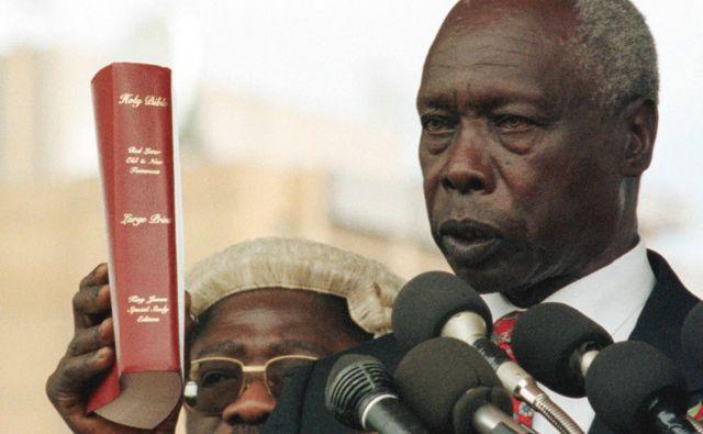 Daniel Arap Moi je v Keniji uvedel enostrankarski sistem. FOTO: Alexander Joe/AFP