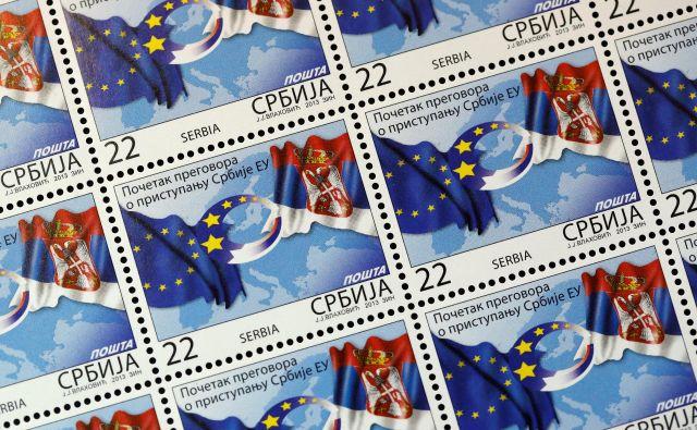 Anketa Centra za evroatlantske študije je ugotovila, da je podpora za vstop v EU med Srbi nekoliko nižja kot pred dvema letoma. Foto Reuters