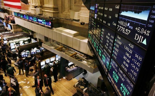 Globalni trgi so bili januarja bolj optimistično razpoloženi kot leto prej, ugotavljajo na Inštitutu za strateške rešitve. Foto Shannon Stapleton Reuters