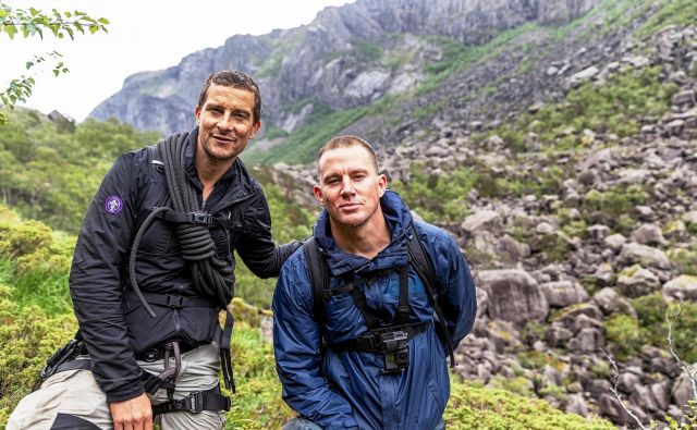 Zvezdniški tandem se je tokrat odpravil v norveško pokrajino Gloppedalsur, kjer je moral Tatum prestati urjenje po metodah vojne mornarice ZDA. FOTO: Ben Simms/National Geographic