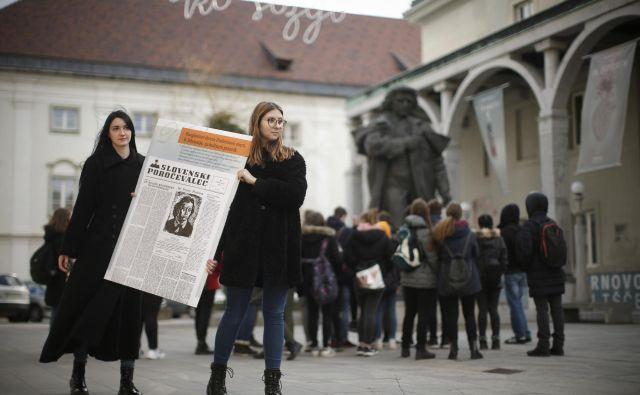 Prešernov dan, osrednji slovenski kulturni praznik. Praznujemo ga ob obletnici smrti največjega slovenskega pesnika Franceta Prešerna. Foto Foto: Jure Eržen/delo