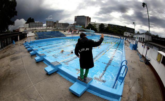 Temeljni kamen za gradnjo nove Ilirije s pokritim olimpijskim bazenom so postavili leta 1999. Foto: Roman Šipić