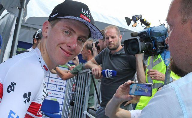 Tadej Pogačar je navdušil že na svoji prvi letošnji dirki. FOTO: Tomi Lombar/Delo
