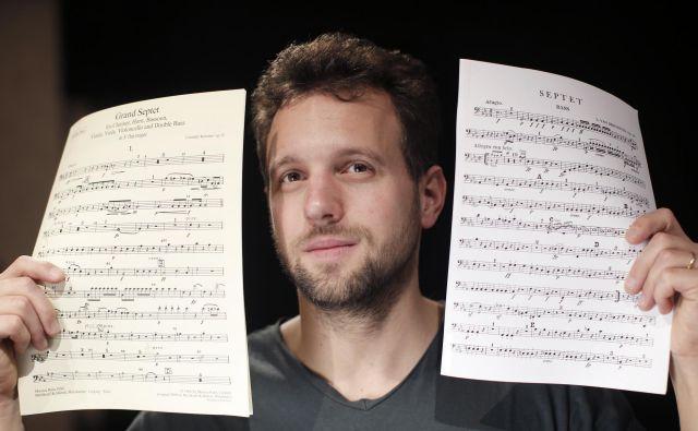 Iztok je avdicijo za Dunajsko filharmonijo opravil v pičlih 15 minutah, dva tedna pred 24. rojstnim dnevom. FOTO: Jure Eržen/Delo
