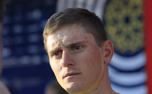 Matej Mohorič ni bil daleč od zmage v močni šprinterski konkurenci. FOTO: Jože Suhadolnik/Delo