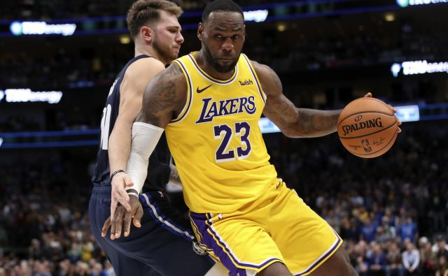 LeBron James in Luka Dončić bosta kmalu združila moči. FOTO: Usa Today Sports